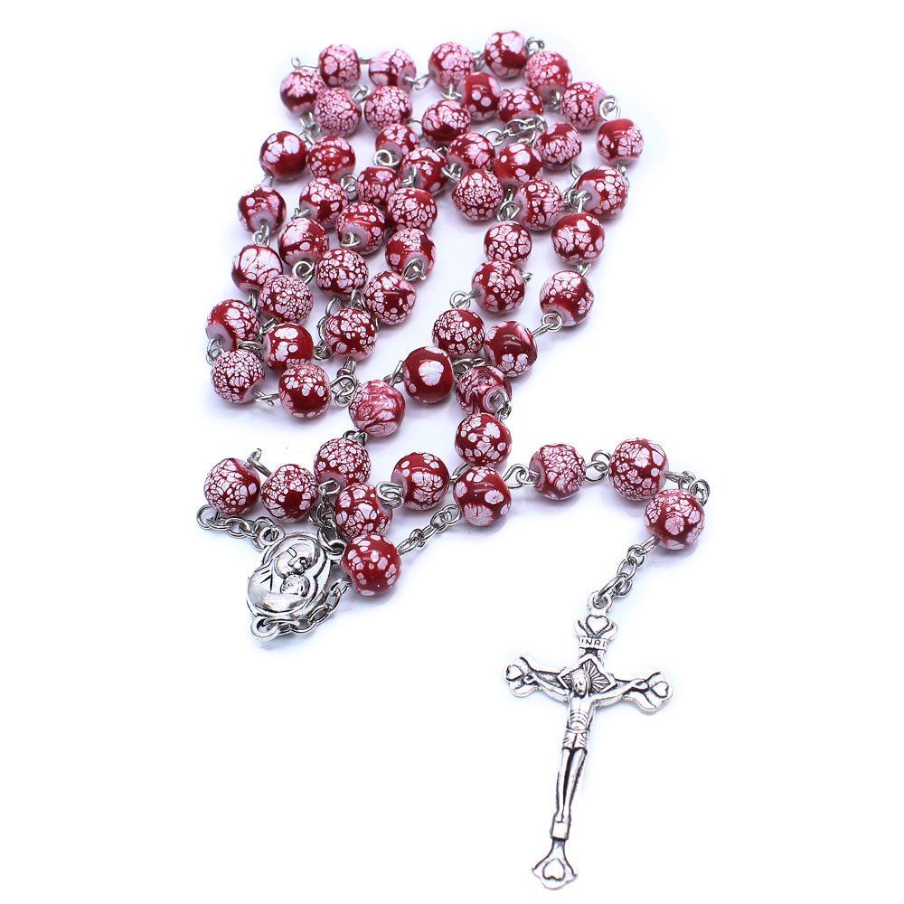 Katolik Tesbih Namaz kolye Boncuk Dini Takı Haç kolye