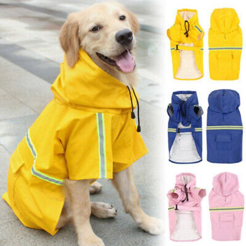 Fashion Dog Hoodies Rain Jacket Waterproof Cute Bee Pattern Soft Comfortable Raincoat Clothing for Puppy Small Medium Dogs Pet Raincoat