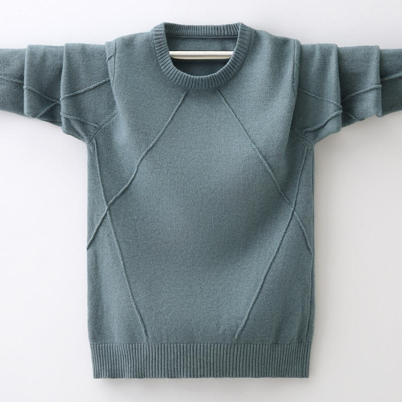 Boys Pullover Cable Knitted Jumper Kids Long Sleeve Sweater Knit Top 3-12 Years