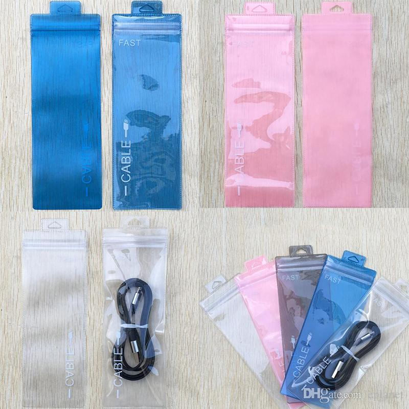 7x19.5 Clear Zipper Retail Plastic Packaging poly OPP bag Cable electronic accessories stylus pen package bag