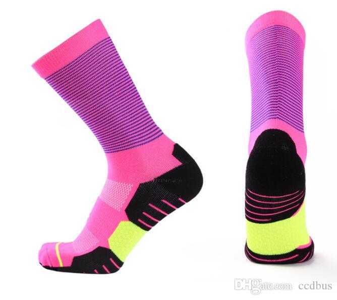 2019 USA new knee high elastic crew socks elite basketball football soccer sport mid-calf length crew sock terry towel kd socks for men #120