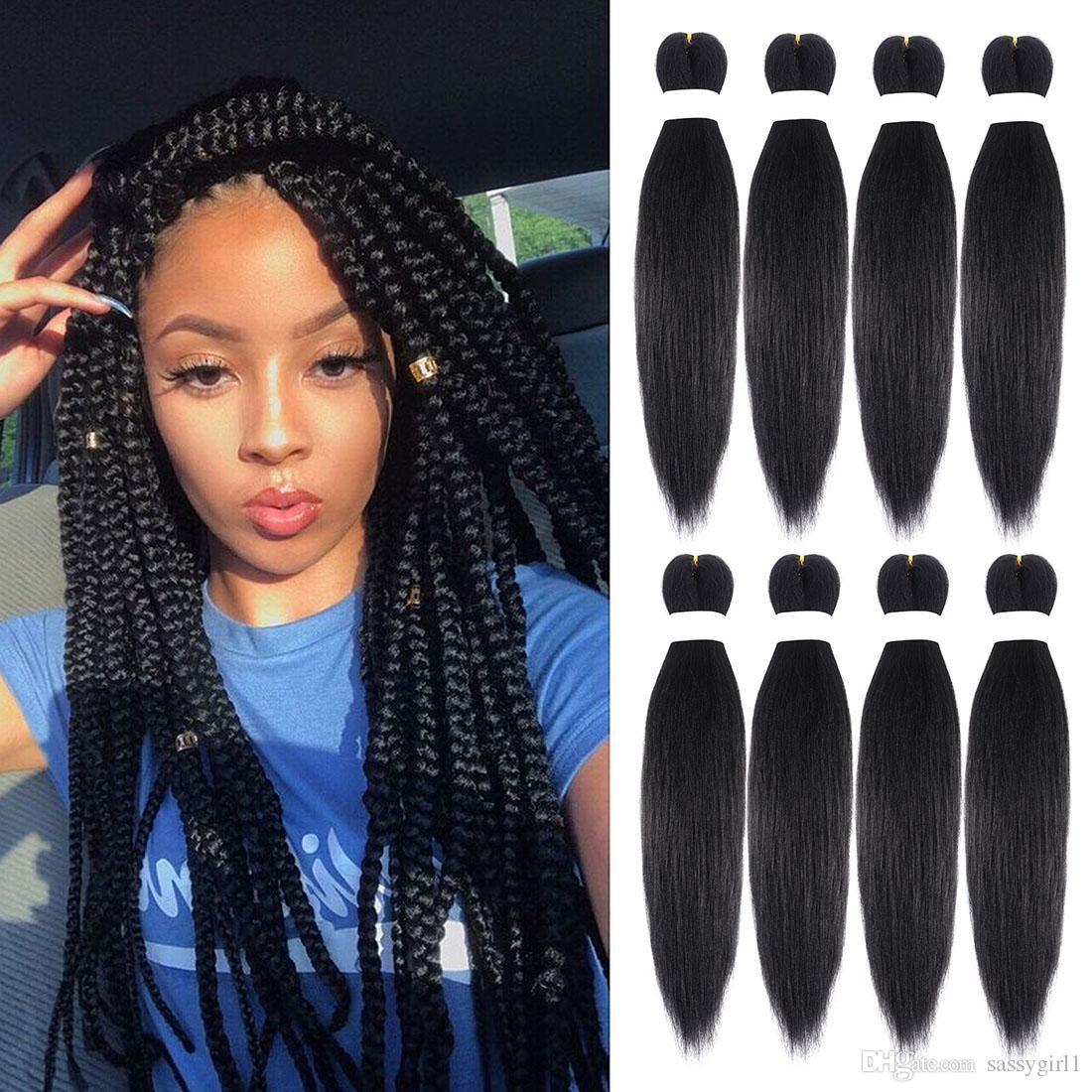 Tressage Cheveux 8packs / lot Pré-étiré Cou Perm Tresses Perm Yaki EZ Ombre Couleur 20 Pouces Jumbo Multicolor Sélection