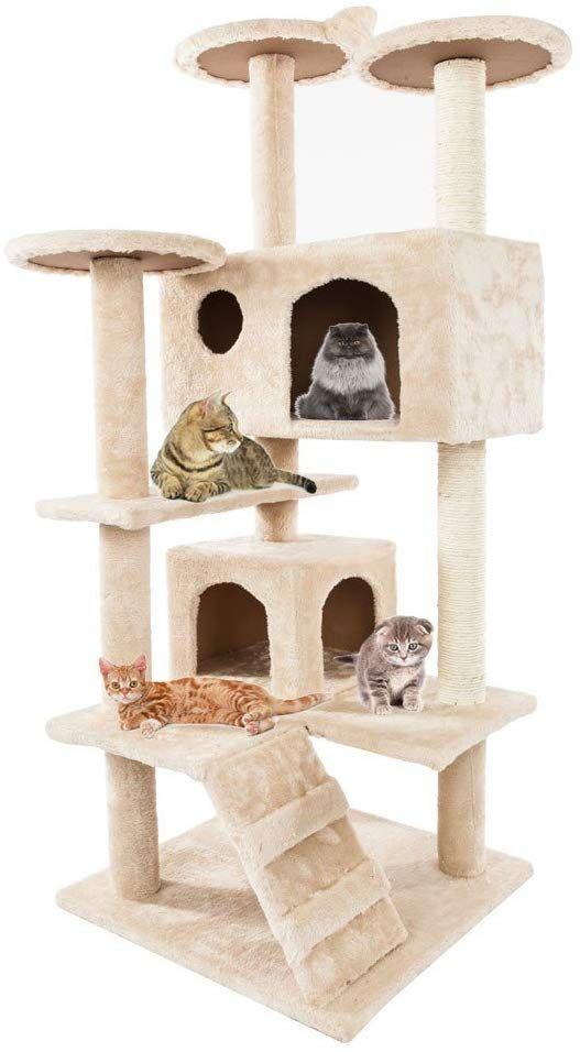 Cat Alberi e Torri il primo per i grandi gatti cuccioli 52 pollici mobili Torre attività con tiragraffi Kitty pet Casa