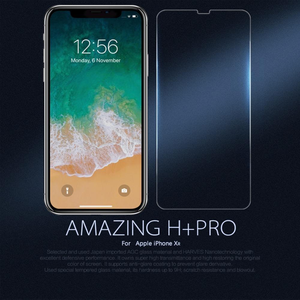10 pçs / lote atacado nillkin incrível h + pro anti-explosão protetor de tela de vidro temperado film para apple iphone xr 6.1