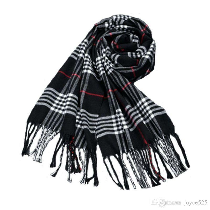 Творческий женщин зима украл плед шарфы палантин обертывания шерсть дамы шарф женщины классический шейный платок Шали foulard femme