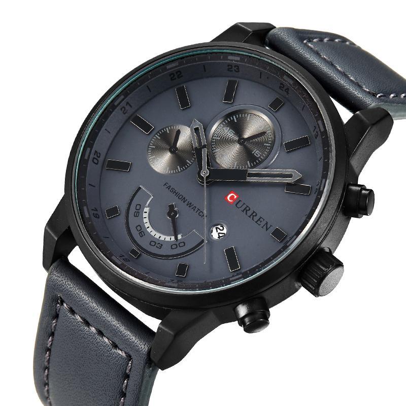 Curren часы для мужчин Марка кварцевые часы мужские круглый циферблат аналоговые часы с дисплеем даты 8217 Y19052103