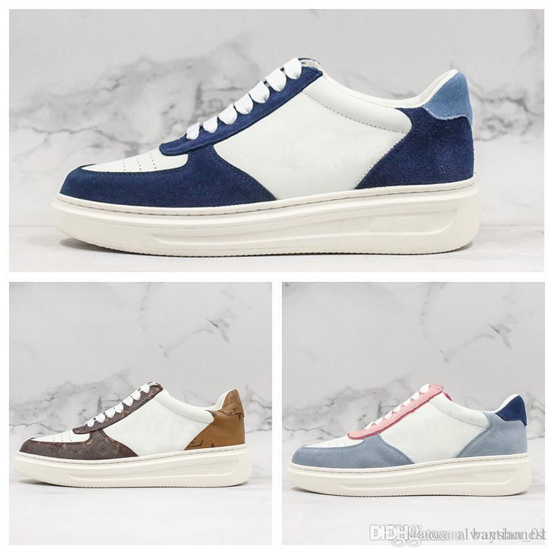 scarpe 2020 nuove scarpe di marca di design di lusso scarpe di cuoio casuali lettere degli uomini delle donne suola spessa chaussures35-44
