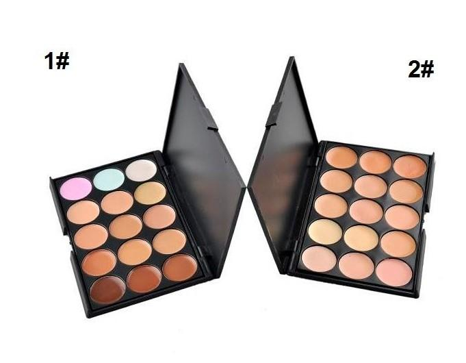 Neues Make-up Popfeel 15 Farben Make-up Gesicht Pressed Powder Concealer Whitening Erhellen Foundation-Schatten-Puder-Palette