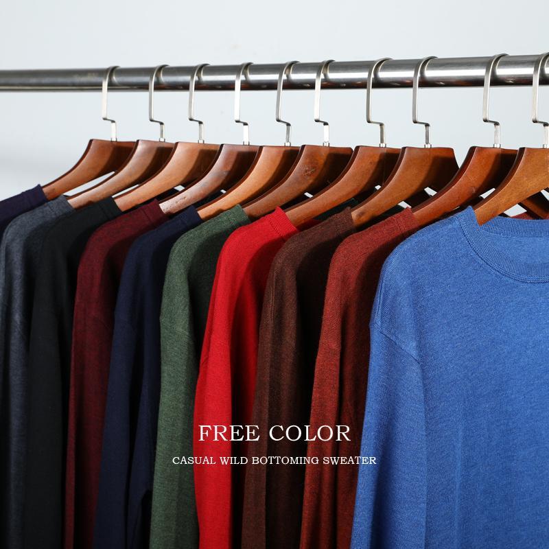 10 colori maglia maglione casuale degli uomini 2019 Autunno Inverno Nuova Slim Fit pullover di lana cashmere Maglione Uomini Marca Abbigliamento Y191109