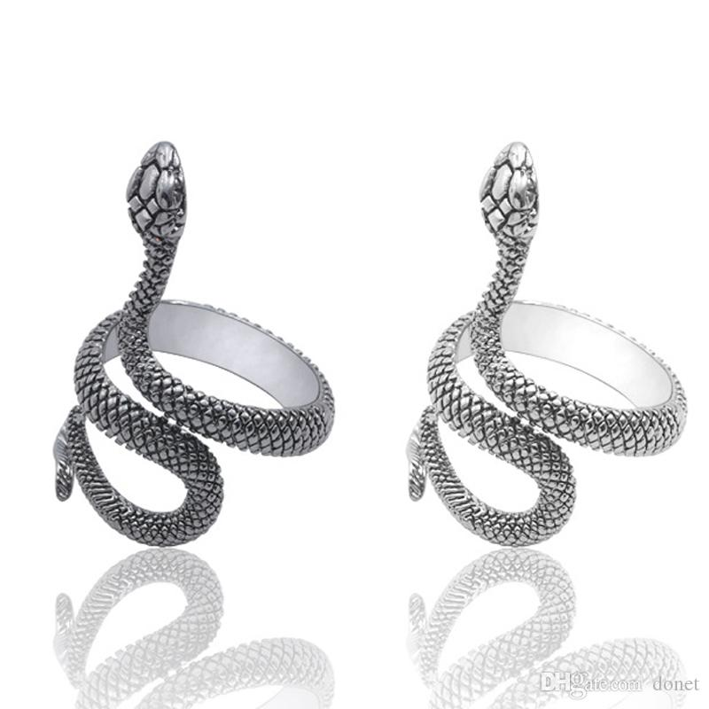 Fashion Snake Rings Men Ring Fashion Design Long Finger Jewelry High Quality Punk Alloy Party Trendy Jewelry Accessories