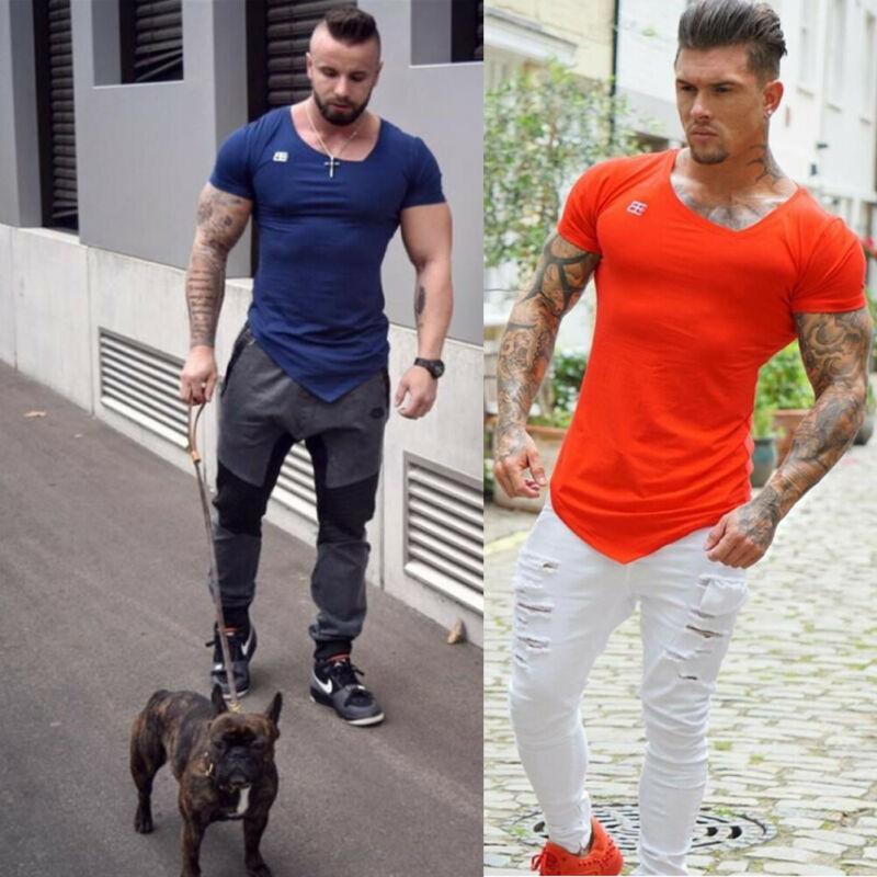 Мужчины Повседневный Стиль Летние Футболки С Коротким Рукавом Длина Сплошной Узор Тип O-Образным Вырезом Воротник Обычная Одежда 2020 Мода