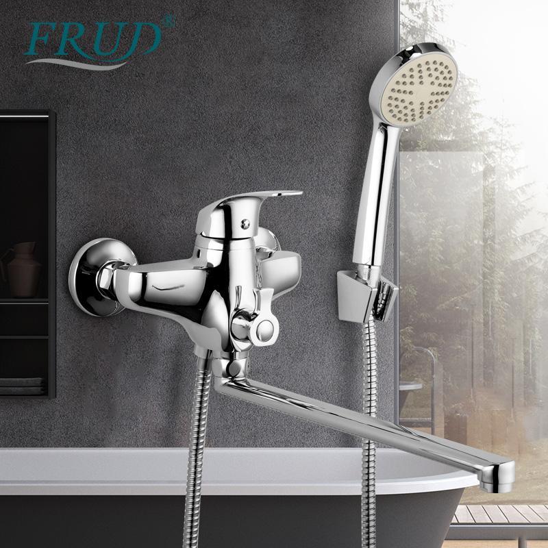 FRUD Banheiro torneira da banheira chuveiro conjunto de saída do tubo fria e quente misturador do banho torneiras misturador torneira do chuveiro banho de água da torneira