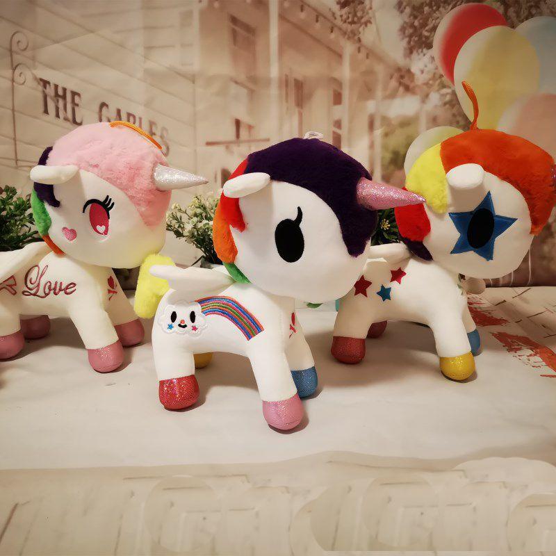 DHL gratuit Nouvel animaux licorne en peluche de 26cm jouet Mon jouet en peluche Collectiond édition envoyer des jouets Poneys Spike cadeaux pour les enfants