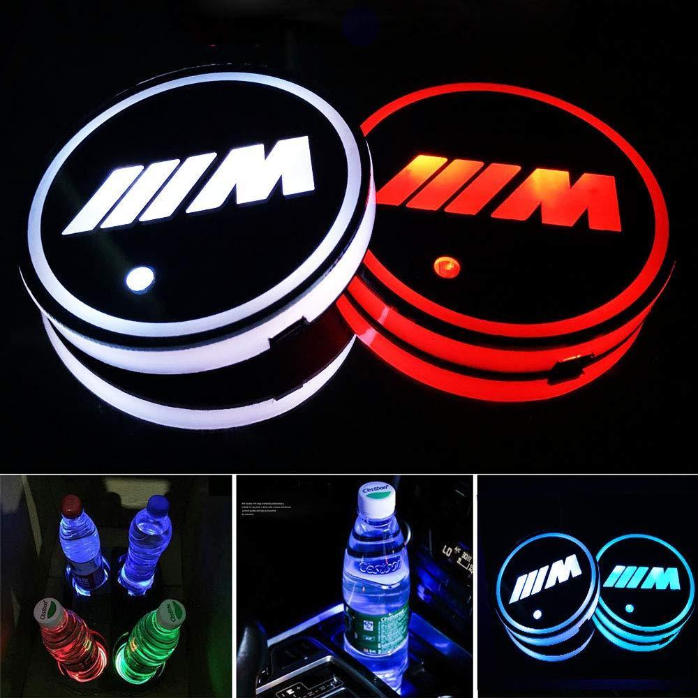 컵 홀더 매트 패드 내부 분위기 RGB 조명 M BMW 액세서리 내부 분위기 램프