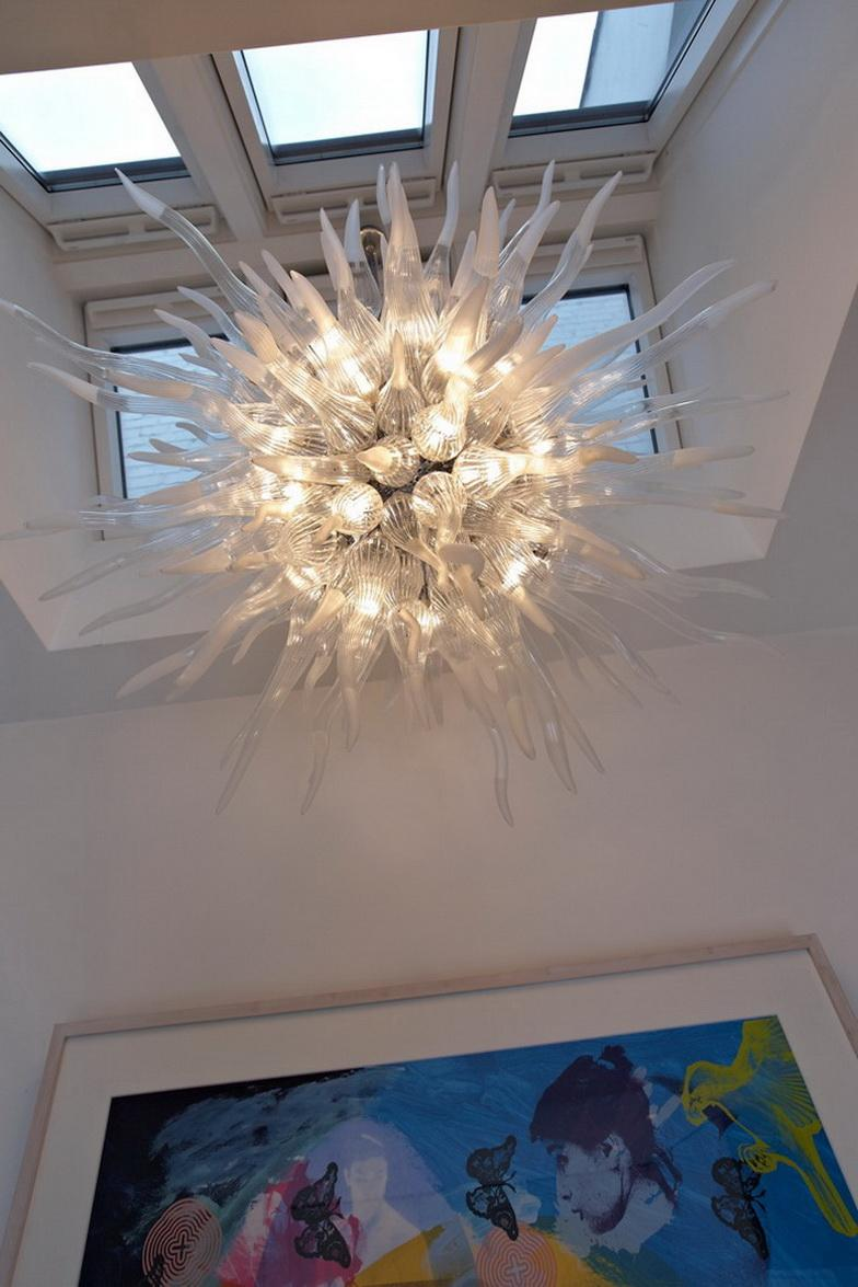 Superior Quality Clear Chandelier Prisms New Arrival Lamp Antique Murano Glass Crystal with 110v-240v LED Bulbs