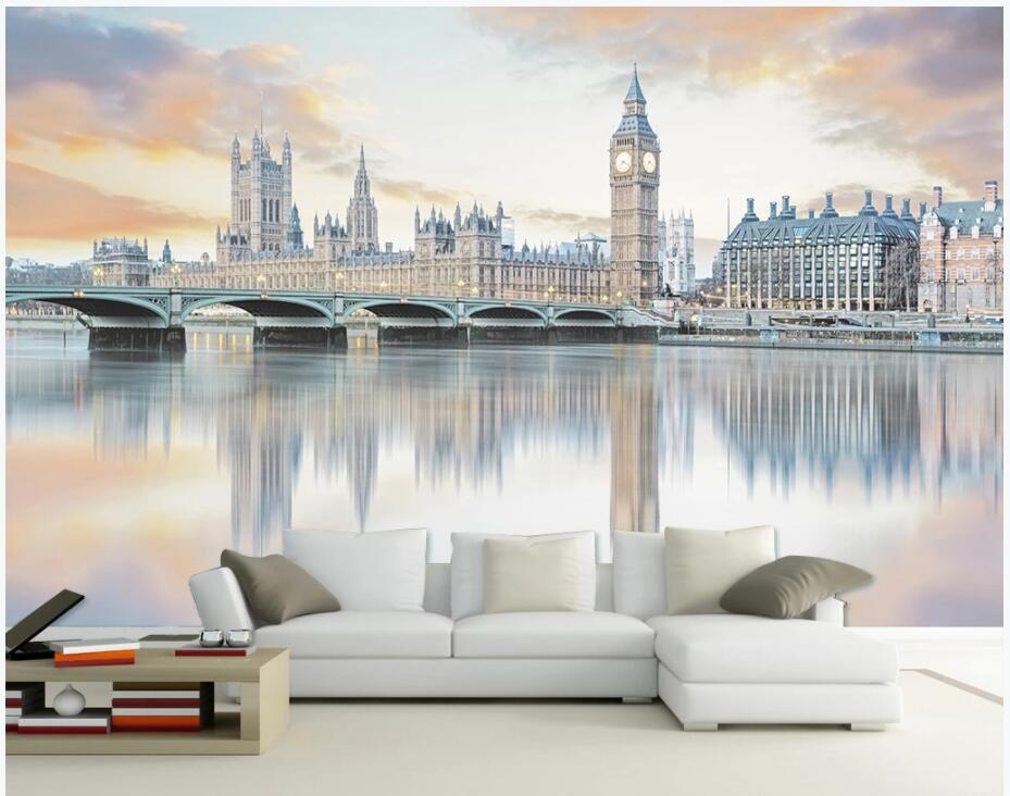 3d wallpaper custom photo European city architecture bridge beauty background living room home decor 3d wall murals wallpaper for walls 3 d