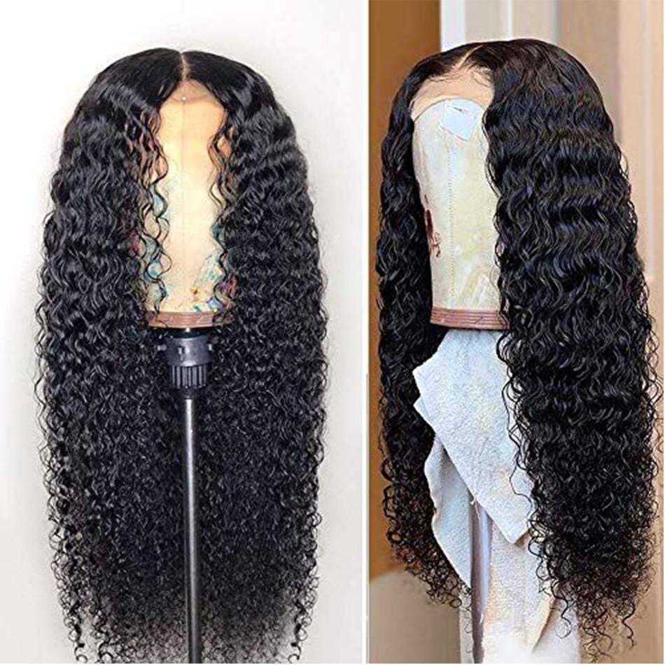 2020 brasilianisches Wasser Welle Spitze-Perücke mit Baby-Haare Arabella 180 Dichte PrePlucked für Frauen Remy Menschenhaar-Perücken 4X4-Spitze-Schliessen-Perücke