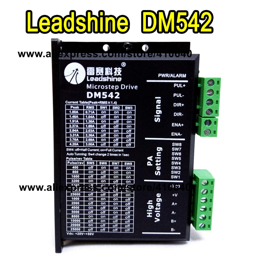 Leadshine DM542 2 Phase DSP Digital Stepper Drive with Max 48 VDC Input Voltage and Max 4.2 A Output Current GENUINE!