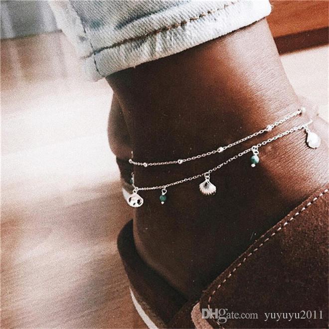 20styles di tendenza hamsa braccialetto del CALZINO sulla gamba per chian oro da donna a piedi ragazza Beach cavigliere gioielleria 01 ALXY01