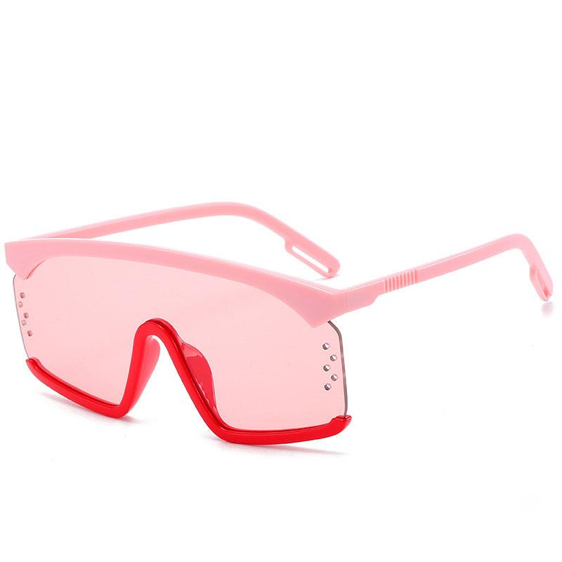 Hombres retro gafas de sol cuadradas de gran tamaño diseñador de la marca mujeres de la moda lentes de gradiente de color rosa gafas uv400 Gafas de sol