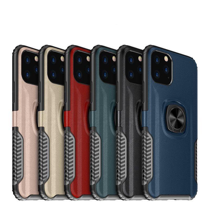 حالات الدائري المغناطيسي الدائري ل iphone11 برو ماكس XR XS 8Plus 6S صدمات الكمبيوتر TPU الهجين الهاتف المحمول شل غالاكسي note10