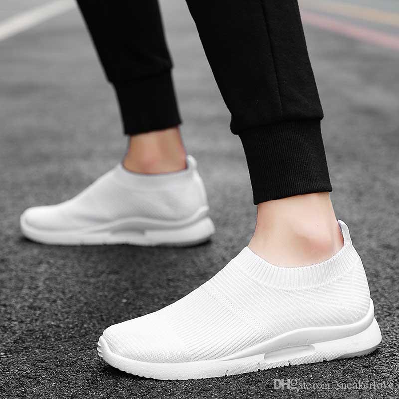 Оптовая Стиль Причинная обуви Человек Женщина Белый Черный Sneaker Мода обувь на открытом воздухе бег ходьба перевозка груза падения Кроссовки Размер 39-44