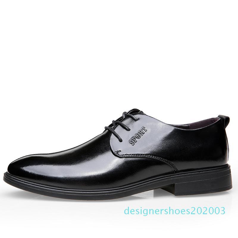 Горячая распродажа-мода удобные деловые мужчины платье обувь Мужской для мужчин обувь взрослых осень популярные зашнуровать обувь качество d03