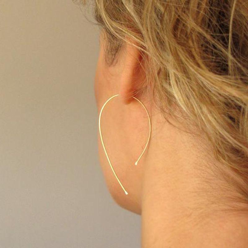 El oro del aro del oro Filled / 925 hecho a mano joyería de la vendimia joyería Personalizar Boho Pendientes Pendientes Pendientes Brincos