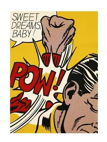 Roy Lichtenstein Sweet Dreams Baby ! High Quality Handpainted &HD Print Abstract Pop Art oil painting On Canvas,Home Decor Multi Sizes Ry029