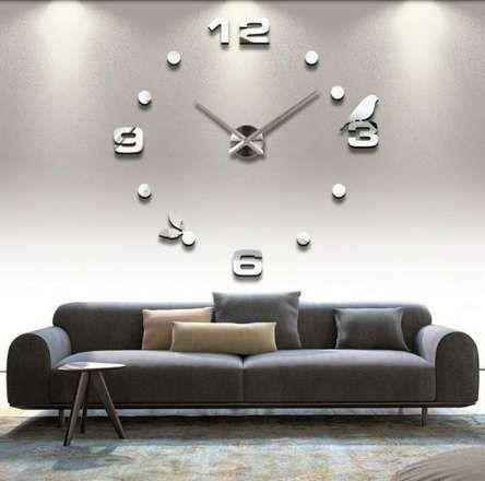 3D Acrylic Simple Wall Clock DIY Digital Wall Clock living room bedroom backdrops kitchen Bird Decoration crafts Wall Clock