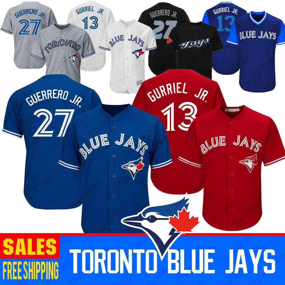 size 40 6f008 ff517 Top 2019 Toronto Blue Jays Jersey 27 Vladimir Vlad Guerrero Jr. Jersey 13  Lourdes Gurriel Jr. Baseball Jerseys UK 2019 From Throwbacks, UK $&Price; |  ...