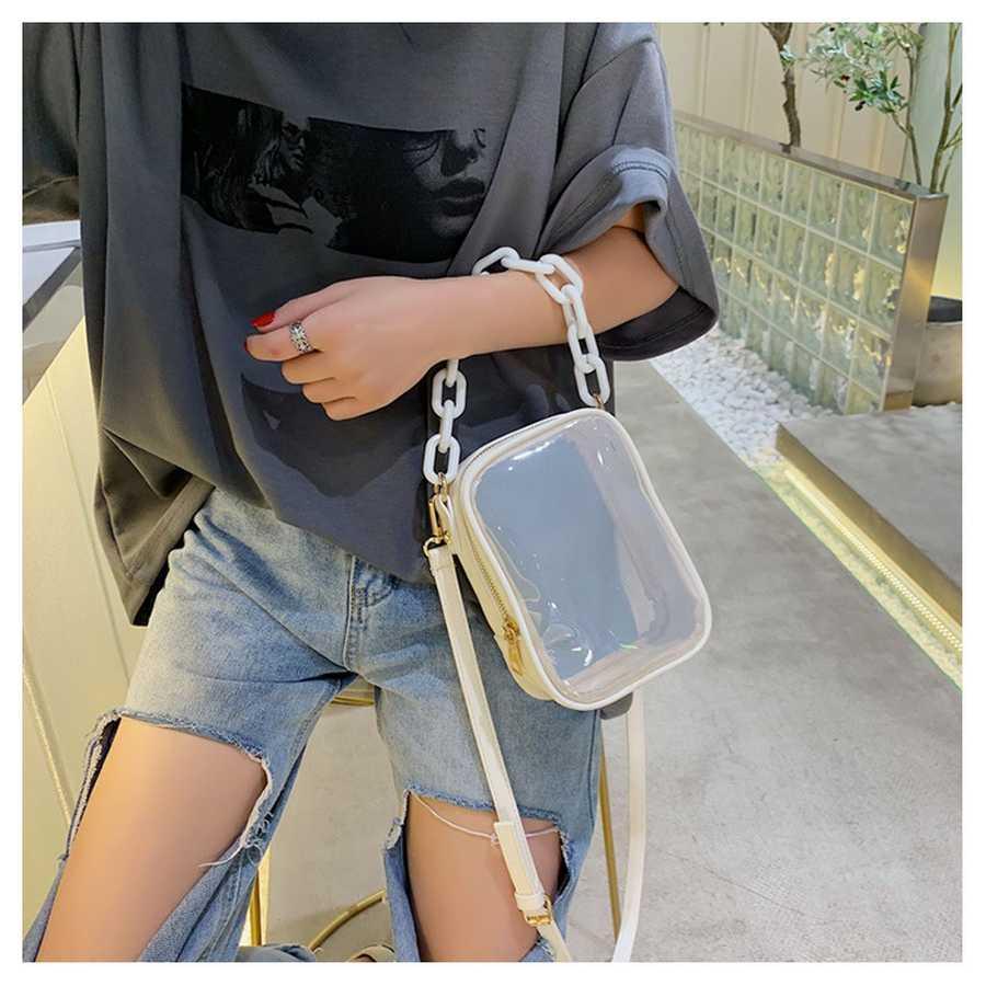 Crossbody del designer- mujeres bolsos de PVC transparente hombro femenino de la jalea bolsas de plástico bolsa de diseñador Pequeño monedero de lujo