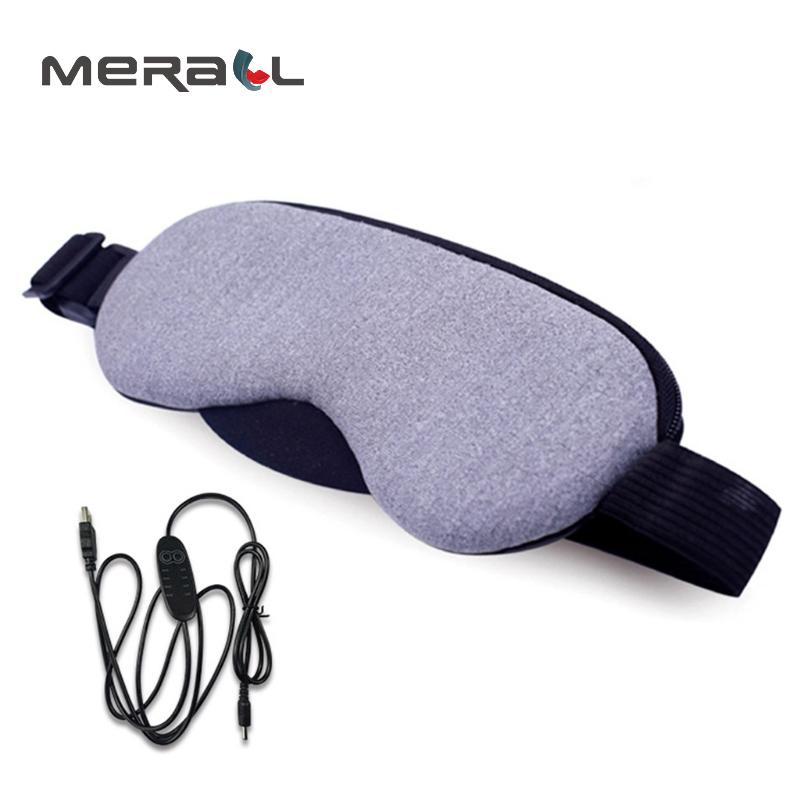 Mask For Sleep Temperature Control Heat Steam Cotton Relieve Fatigue USB Hot Pads Sleeping Eye Cover Care Blindfold Purple Tool T190618