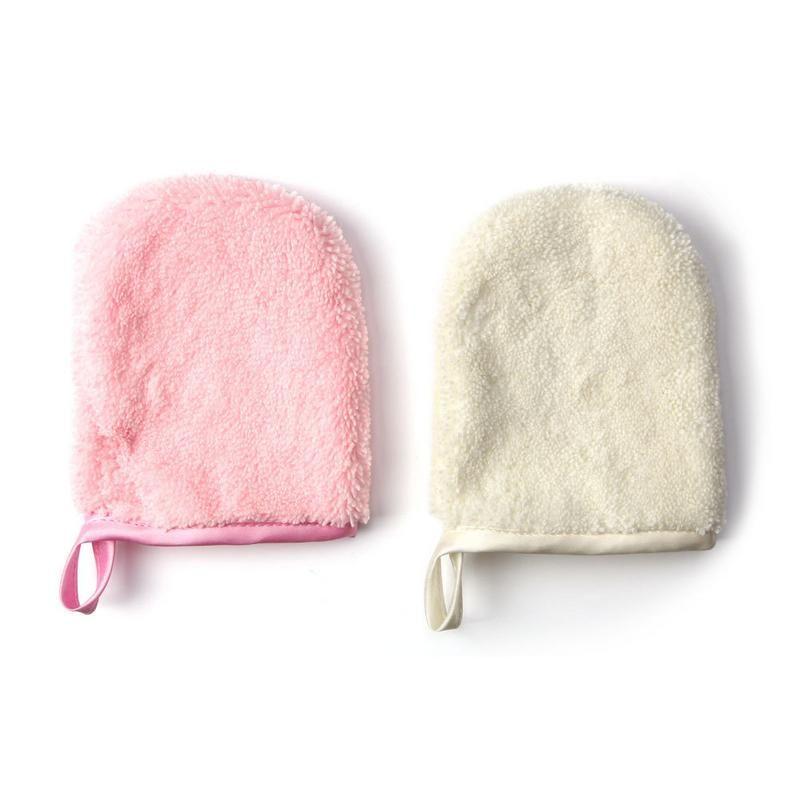 جديد مزيل ماكياج قفاز القطن وسادة قابل للغسل وقابلة لإعادة الاستخدام ستوكات تنظيف الوجه الملابس المحمولة الجلد ودية لينة مريحة