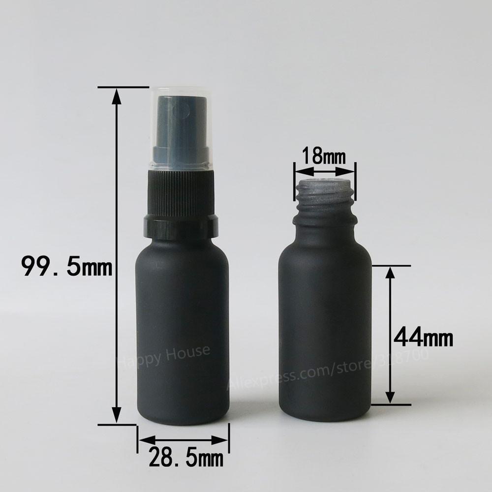 360 × 20ML متجمد الأسود عطر زجاج البخاخة مع أسود أبيض بلاستيك بخاخ، 30CC رائحة زجاجة