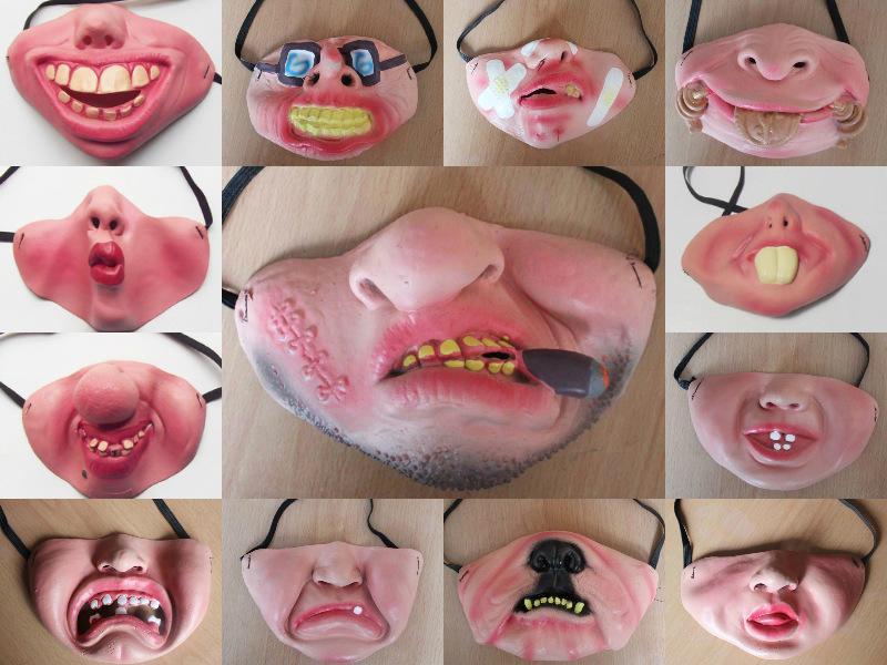 Komik Cadılar Bayramı Korkunç Maske Parti Palyaço Yetişkin Lateks Cosplay Yarım Yüz Kostüm Partys Maskeleri Yüz Dekor