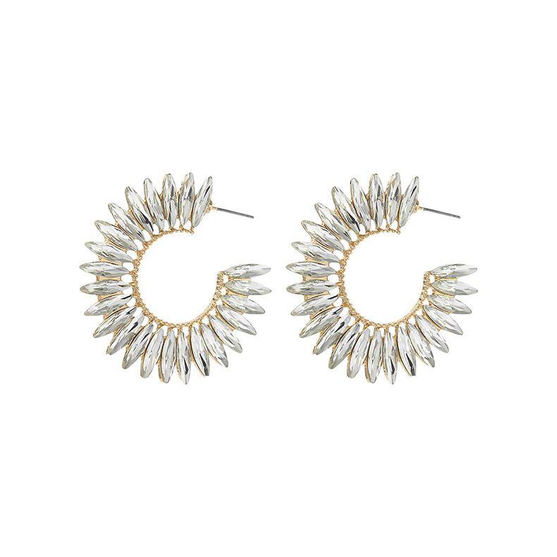 2020 orecchini di cristallo piena di diamanti popolare c-line europei e americani