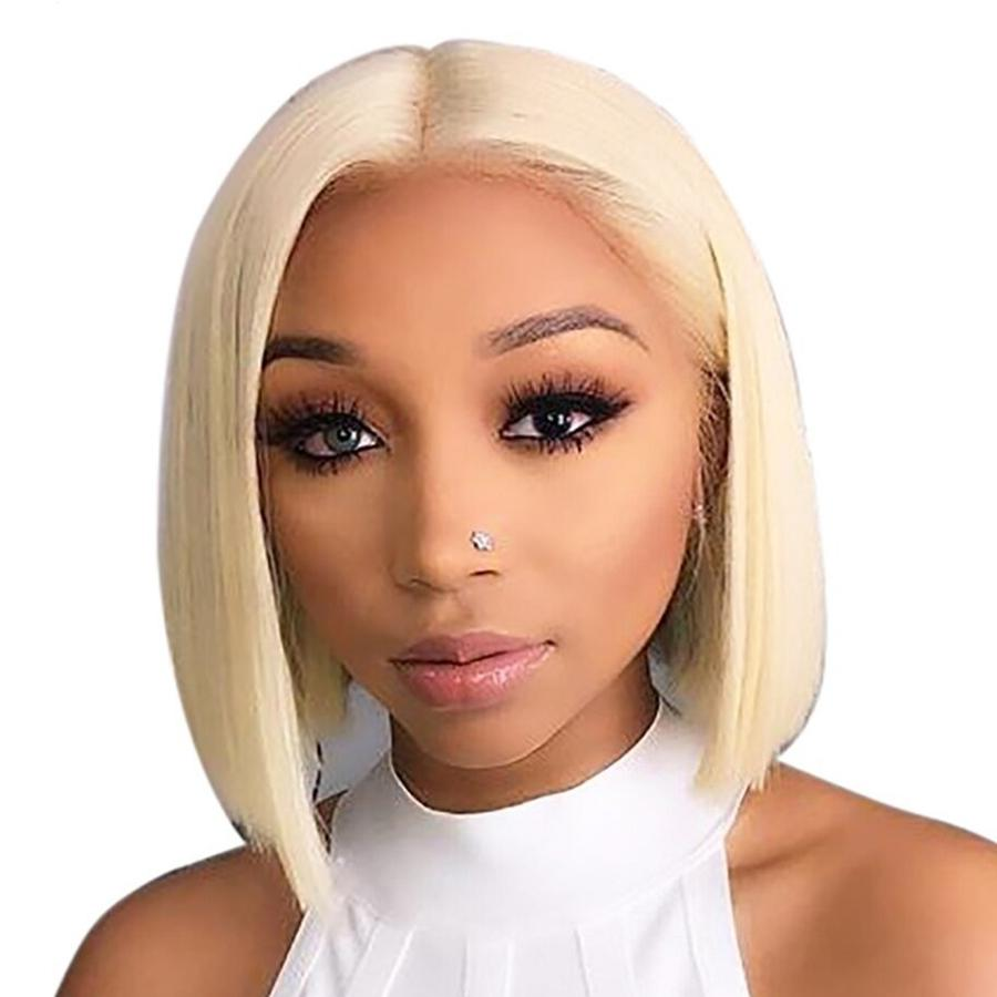 13x4 Blonde Lace Front Wig Brazilian 613 Short Bob Lace Front Human Hair Wigs For Black Women Transparent Lace Front Wig