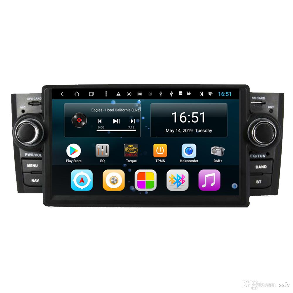 Android car player with precise GPS Resolution HD 1024 * 600 free map front camera multimedia player for Fiat linea 2007-2011 7inch