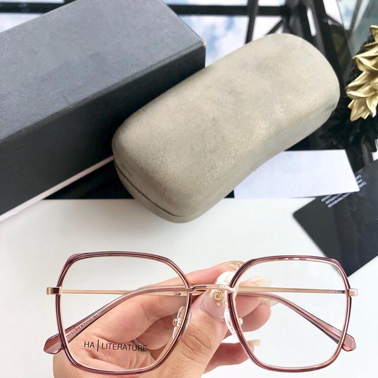 2020 HOTSALE كاندي لون Partysu الأصغر سنا كبيرة حافة النظارات الإطار CH0039 52-19-142 المعادن + لوح لالنظارات الطبية مع حالة تعيين كامل