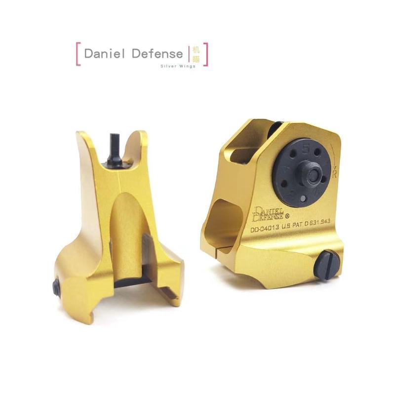 DD Defense 사용자 정의 CNC 오목면 조각 양극 산화 처리 된 철제 후방 시력 SET 전술 전경