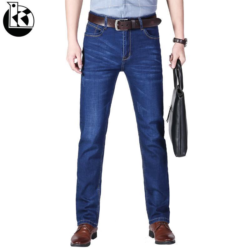 2020 neue Männer-Aktivitäten Business-und Freizeit-Jeans-Qualitäts-berühmten Frühling und Herbst Jeans Gerade Stretch Soft-Männer