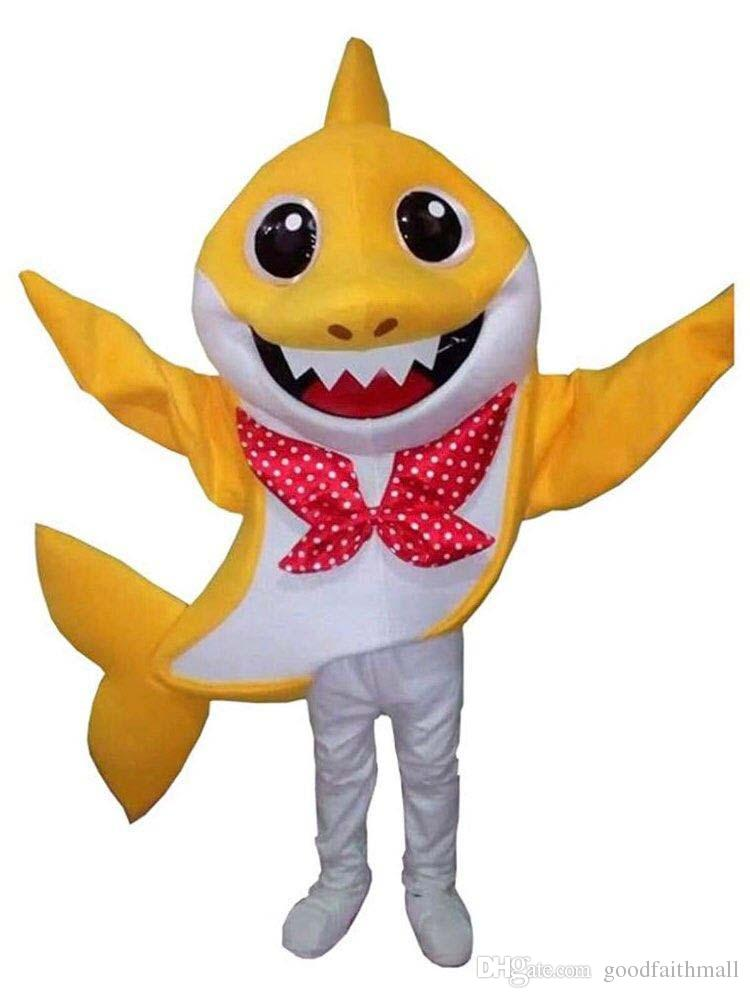 Hot Animal Shark Cosplay Blue Mascot Halloween Costumes Funny Fancy Dress Child