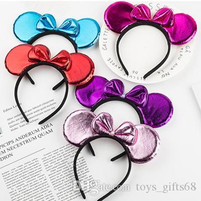 Cartoon del mouse per bambini prestazioni giornata fascia luminoso specchio di cristallo fascia della ragazza di natale di Halloween regalo della decorazione fascia