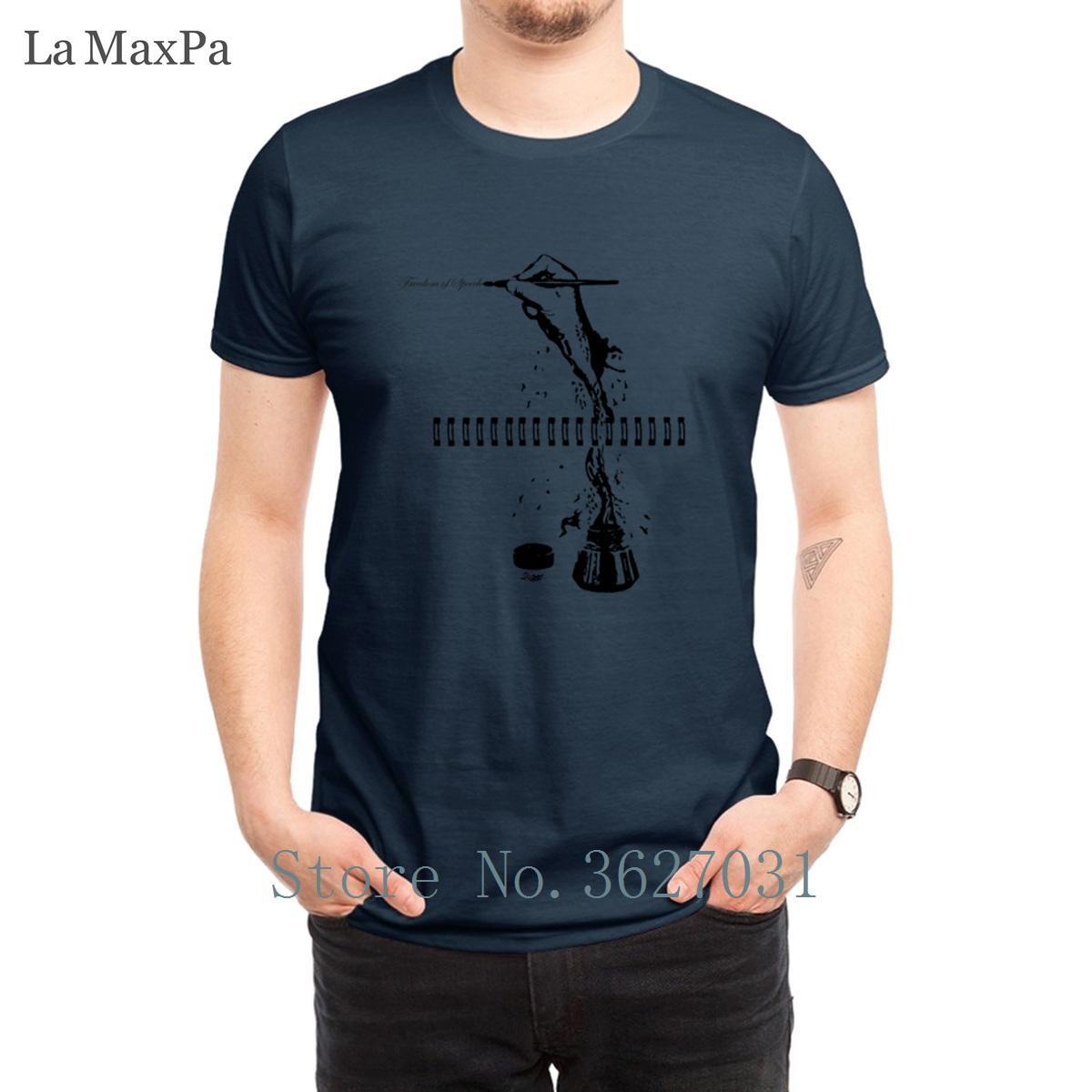Modello Uomini creativo T shirt Viva la libertà di parola T-shirt Impressionante Streetwear Miglior girocollo Tee Shirt Uomo allentato