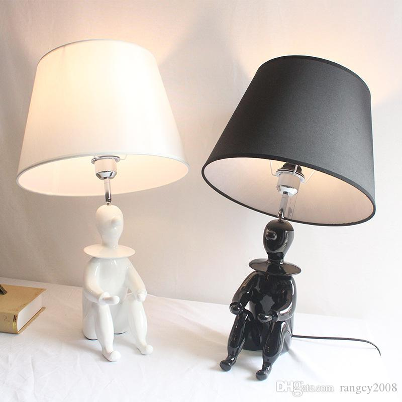 Modern resin creative decorative table light clown led desk lamp creative children lamp living room bedroom bedside lamp