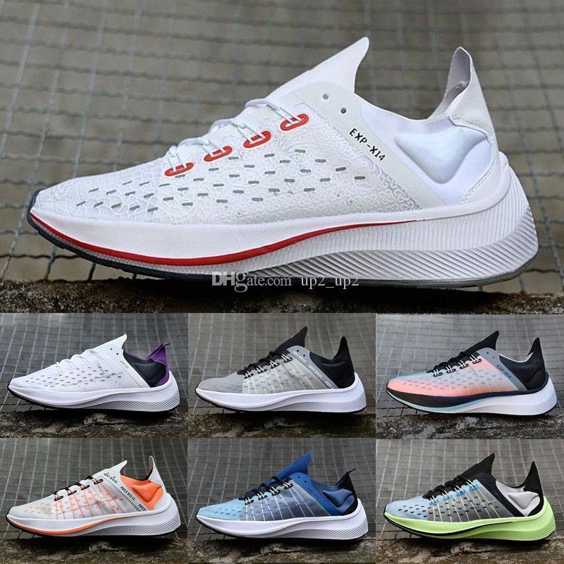 2020 nouveaux hommes athlétiques coureur Translucide Wmns femmes chaussures de course en plein air noir blanc EXP-X14 Zoom Sneakers chaussures de sport Fly Formateurs