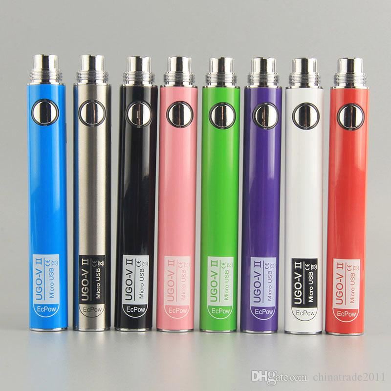 Orijinal UGO VII 510 Pil 650 / 900mAh ecig Vape Kalem Pil UGO Mikro USB Şarj Vaporizer Kalem Yağ Kartuşları için 510 Konu Pil