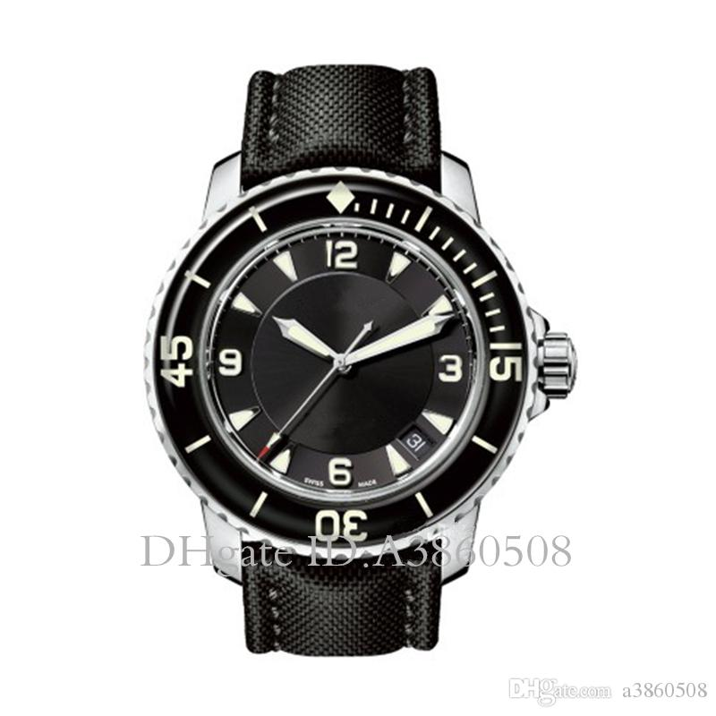 Luminous CINQUENTA braças Assista 50 Fathoms japonês Miyota 8215 Mecânica Automatic Mens Relógios Esporte relógios de alta qualidade, montre de luxe