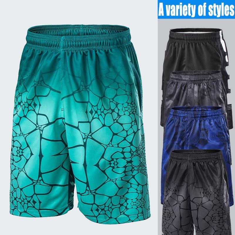Moda-calções de fitness sportswear treinamento de basquete calças de corrida shorts soltos tamanho grande cinco pontos de praia calças de secagem rápida de alta elastic